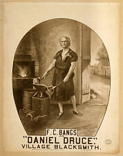 Photo Printed Old Poster Theatre Flyer Fc Bangs Daniel Druce Village Blacksmith