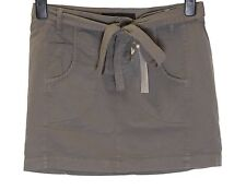 Bnwt Women's French Connection Mini Skirt + Belt Fcuk RRP£45 New Grey