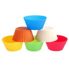1/12/50 Silicone Round Cake Muffin Chocolate Cupcake Liner Baking Cup Mold Mould