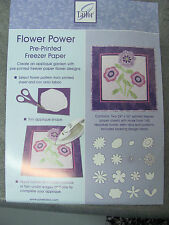 Pre-Printed Freezer Paper Applique Quilting Templates Flower Power  June Tailor