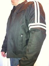 Lightweight Motorcycle Jacket by Zony Black/Gray w/Armor up to 6XL