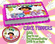 Dora the Explorer Edible Cake Toppers picture image sugar paper frosting ideas