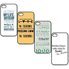 One Direction Beach Quote Hard Plastic Back Case Cover For i Phone 5/5S