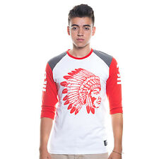 T. I. Hustle Gang Raglan Crew Tee White & Red 100% Authentic Fast Ship