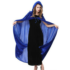New Halloween Cosplay Masquerade Witch cape Cloak Wizard Hooded Costume SW0014