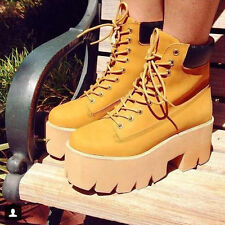 2014 New Winter Women's lace up  block plate form round toe short Martin boots
