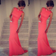 Sexy Womens Long Bridesmaid Prom Ball Cocktail Party Dress Formal Evening Gown