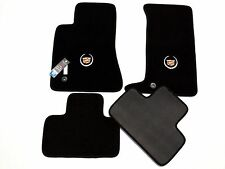 Cadillac CTS Carpet Floor Mats 4pc Official Logo - 2003-2014 Black Gray Beige
