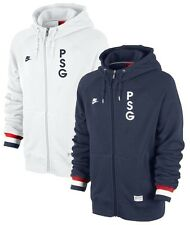 New Nike PSG Paris Saint Germain Full Zip Covert Hooded Top Hoodie Navy & White