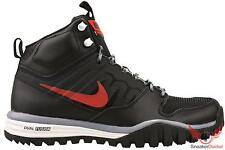 New 2014 Nike Mens Dual Fusion Hills Mid Boot Black/Cool Grey/Red All Sizes