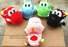 5colors Super Mario Brothers Yoshi Plush Slipper One Pair Xmas gift Kid/Adult
