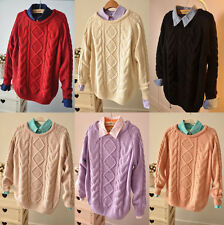 Hot New Women Long Sleeve Knitted Pullover Jumper Loose Sweater Knitwear