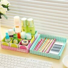 DIY Candy 6 Boxes With Covers Cute Desk Tidy Holder Organizer Cosmetic Storage