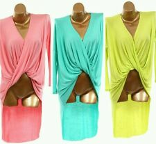 Long Sleeve Twist Knot Draped Front High Low Layering Cardigan Shirt T SMALL-3X