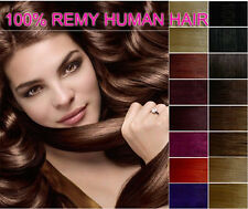 "15""18""20""22""24"" Clip In Full Head 100% Real Remy Human Hair Extensions kao123"