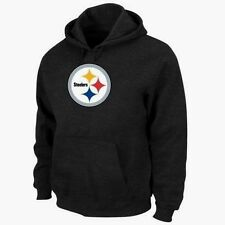 Pittsburgh Steelers Black Signature Logo Pullover Hoodie Jacket Jersey NFL