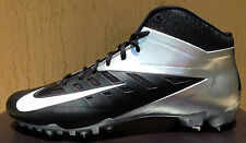 Mens Nike Vapor Pro 3/4 TD Football Cleats Size 9.5 Black/Silver (MOLDED)