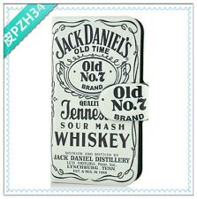 Sell nostalgia beer white jack daniels PU LEATHER FLIP Case COVER for LG Optimus