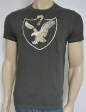American Eagle Outfitters AEO 7 Mens Dark Gray Applique T-Shirt New NWT