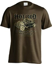 American Racing Hot Rod Junk Yard Rat Rod Mens Black T-Shirt S to 3XL Big & Tall