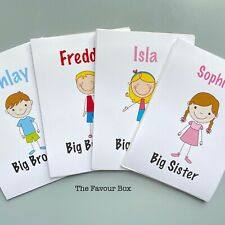 Personalised A6 Activity Book, Pack Gift Party Bag For Big Sister Brother