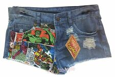 Ladies shorts Primark DENIM SHORTS DISNEY THE LITTLE MERMAID or  MARVEL COMICS