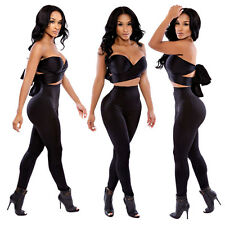 NEW Womens Catsuit Strapless Sleeveless Bodycon Jumpsuit Romper Clubwear