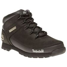 New Mens Timberland Black Euro Sprint Leather Boots Hikers Lace Up