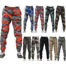 JOGGER Men Elastic Waist Drop Crotch Twill Harem Trousers Camouflage sweat pants