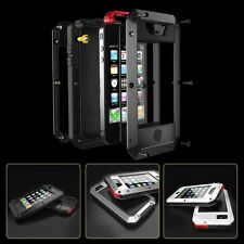 Waterproof Shockproof Aluminum Gorilla Glass Metal Case for iPhone 5 5S 5C 4 4S