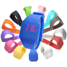 New Touch Screen Digital Led Jelly Silicone Sport Ultra-thin Mens Womens Watches