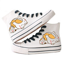 Natsume Yuujinchou Cat Teacher Lace Up Canvas Shoes Teenage Student Sneakers HOT