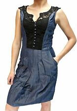 Women Vest Denim Dress MISS SIXTY GIOIA Party Cocktail Woman Size S New z69