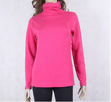 Cashmere Silk Knit Ribbed Women'S Turtle Neck Long Sleeve Sweater CS0803
