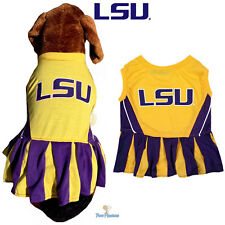 NCAA Pet Fan Gear LSU TIGERS Cheerleader Dress for Dog Dogs Puppy Puppies