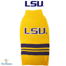 NCAA Pet Fan Gear LSU TIGERS Sweater Coat for Dog Dogs Puppy Puppies