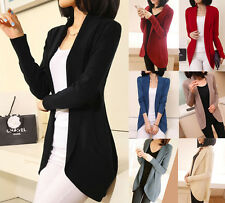 Women Long Sleeve Knitted Cardigan Long Coat Jacket Outwear Casual Loose Sweater