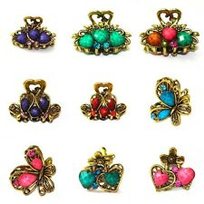 Women's Animal Butterfly Love Crystal Metal Hair Clips Claws Accessories Jewelry
