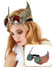 Winged Goggles Silver/ Gold Steampunk Halloween Costume Aviator New ELOPE 300136