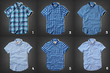 NWT Hollister by Abercrombie&Fitch Jack Creek Plaid Shirt Short-Sleeve S M L XL
