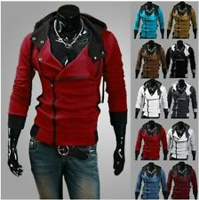 New Fashion Men's Anime Cosplay Costume Hoodie Slim Fit Coat Jackets 7-Color