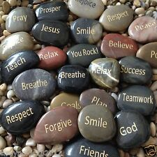Engraved Inspirational Stones Keepsakes or Gifts to Family & Friends (NEW WORDS)