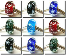 925 Sterling Silver Core Xmas Christmas Gift Bead Fit European Charm Bracelet