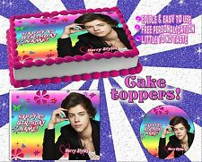 Harry Styles One Direction Birthday cake topper Edible picture paper image sheet