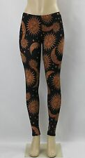 New Del Sol Lunar Sun and Moon Fitted Spandex Stretch Tights/Legging Pants