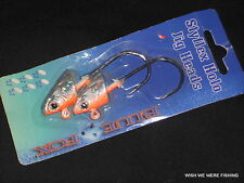 BLUE FOX SLYFLEX HOLOGRAPHIC JIG HEADS, 2 IN A PACK..LURES, SEA, BOAT, WRECK.