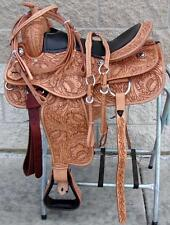New Buffalo Leather Western Pleasure Saddle equestrian tack with free HS / BC