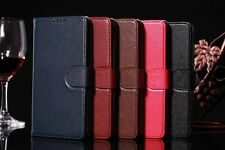 Flip Wallet Genuine Cow Leather Skin Stand Case Cover For Samsung Galaxy Note 4