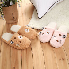 New Ears Bear Plush Slippers Cubs Home Velvet Slippers For Men and Women UX0003
