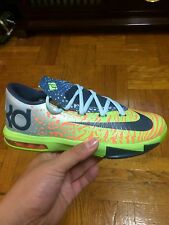 "Nike KD VI 6 GS ""Liger"" Electric Green/Orange Youth Kid Sz:3.5-7Y 599477-302 PBJ"